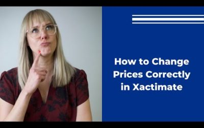 Changing Prices In Xactimate